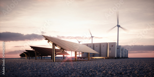 Canvas Print Dawn of new renewable energy technologies