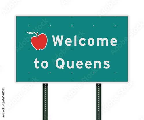 Welcome to Queens road sign Canvas Print