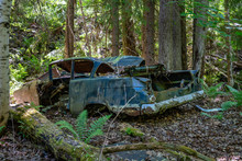 Old Abandoned Car Wreck Polluting The Environment