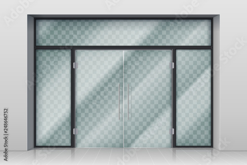 Glass entrance door Canvas Print