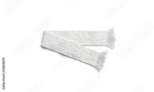 Fotografie, Obraz  Blank white knitted scarf folded mock up, isolated, 3d rendering