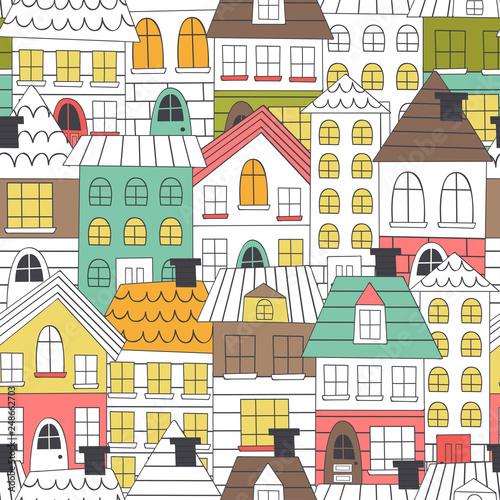bezproblemowa-wzor-kolorowanki-domy-ilustracji-wektorowych-eps