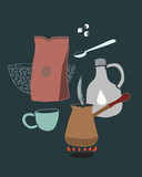 Vector Illustration Coffee And Accessories - 248663797
