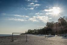 Seascape On A Deserted Beach W...