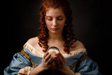 Baroque Woman With Glass Ball