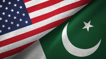 United States And Pakistan Two Flags Textile Cloth, Fabric Texture
