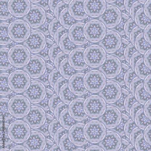 Photo  Blume des Lebens als nahtloses kachelbares Muster