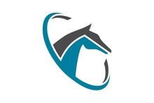 Horse Farm Abstract Logo Concept Icon