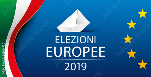 Foto  European elections 2019. Italy. Italian. Vector illustration