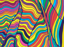 Psychedelic Colorful  Waves. F...