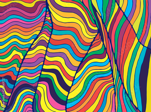 Fototapeta  Psychedelic colorful  waves
