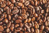 Fototapeta Kuchnia - Roasted coffee beans closeup texture background