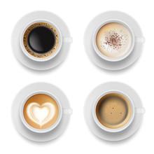 Coffee Cup Top. Hot Milk Espre...