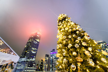 Christmas Tree At Night With N...
