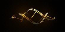 Film Strip Isolated On Black B...