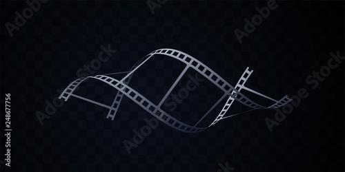 Fotografie, Obraz  Film strip isolated on black background