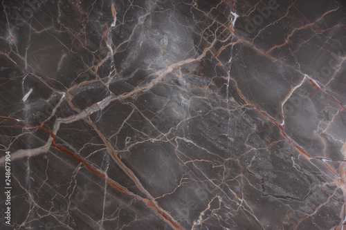 Fototapeta  Brown marble with pink and red veins, called Caravaggio