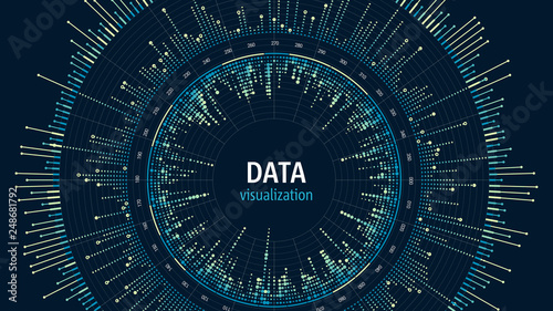 Big data visualization concept Canvas Print
