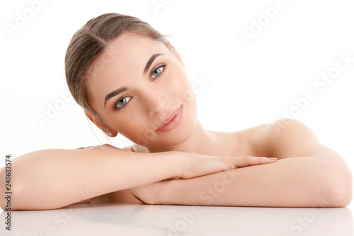 Fotografie, Obraz  Beautiful young woman with perfect skin