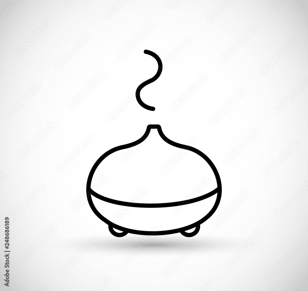 Fototapety, obrazy: Essential oils diffuser - vector thin line icon