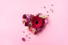 Heart Shape Made Of Spring Flo...