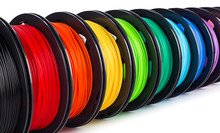 Colorful Bright Wide Panorama Row Of Spool 3d Printer Filament