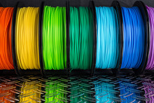 Colorful Bright  Row Of Spool ...