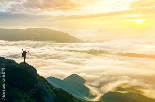 Fotografie, Obraz  Wide mountain panorama