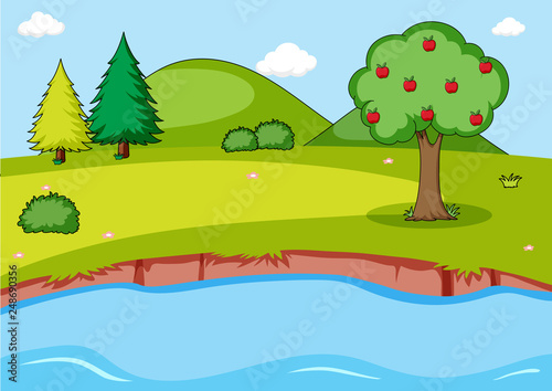 Simple nature landscape background