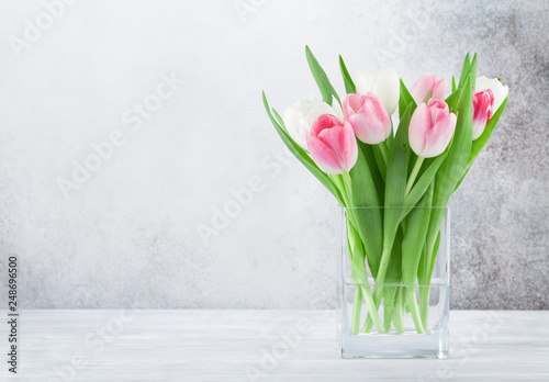 Photo  Colorful tulips flower bouquet