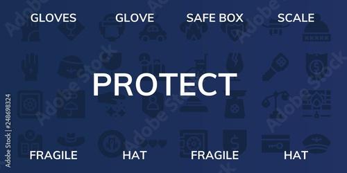 Fotografia  protect icon set