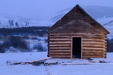Old Cabin In The Snow