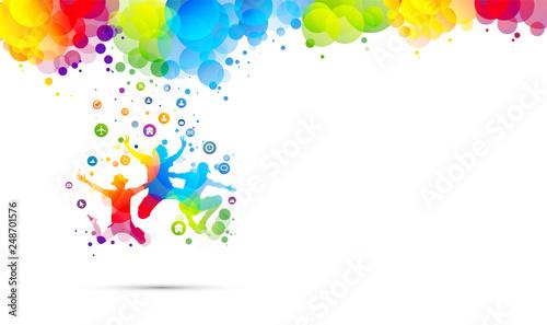 amici, saltare, abilità, amicizia, giocare - 248701576
