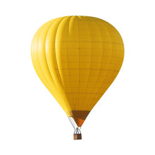 Bright Yellow Hot Air Balloon ...