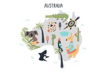 Animal World Map - Mainland Au...