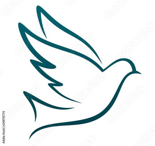 Logo of flying bird. Fototapete