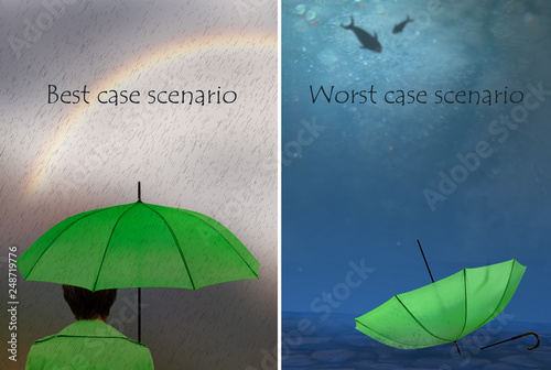 Pinturas sobre lienzo  Best and worst case scenarios