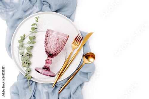 Photo  Wedding or festive table setting