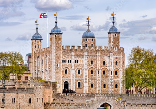 Fotobehang Oude gebouw Tower of London, United Kingdom
