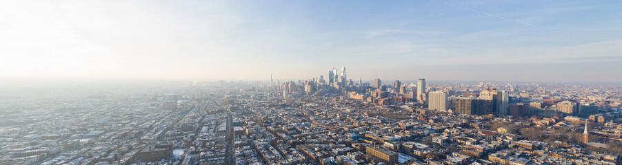 Aerial panoramic photo Downtown Philadelphia PA