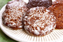Traditional Christmas Gingerbread Lebkuchen With Honey And Spices From Nuremberg, Germany