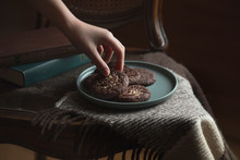 Chocolate Cookies On The Plate...