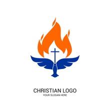 Christian Church Logo. Bible S...