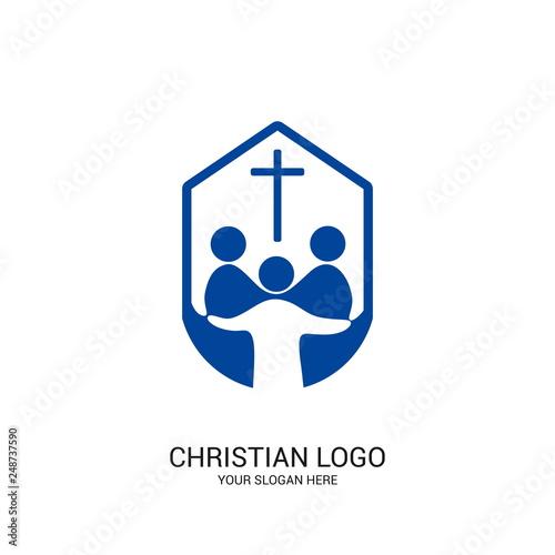 Christian church logo Canvas Print