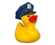 Police Rubber Duck, 3D Rendering