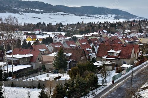 Fototapeta premium Zimowy pejzaż miasta