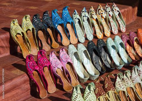 Fotografie, Obraz  Women's summer shoes in the Eastern market in Dubai