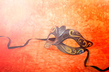 Mardi Gras Mask On A Bright, C...