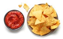 Corn Chips Nachos And Salsa Sa...
