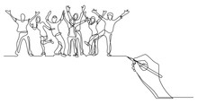 Hand Drawing Business Concept ...